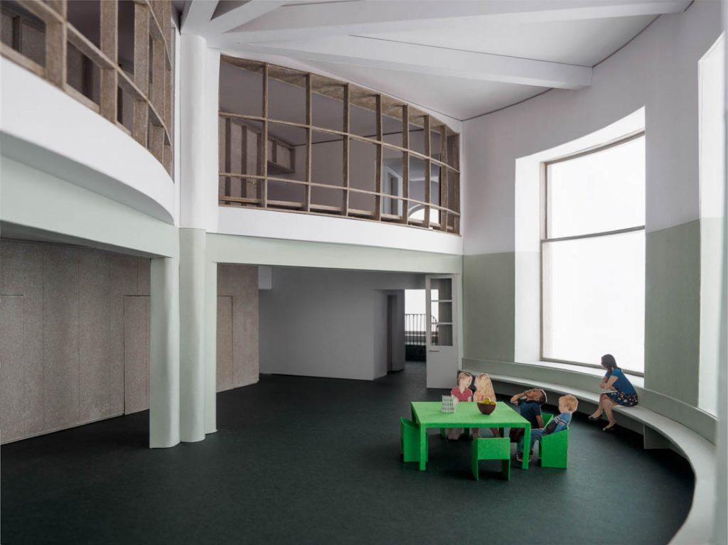 Para el proyecto de restauración del Ancien Manège de Geneve, Estar Arquitectos trabajaron permanentemente con las diferentes maquetas que fuimos fotografiando, desde la primera propuesta para el concurso, hasta el proyecto final.